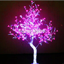 5ft Outdoor LED Crystal Cherry Tree Light Holiday Garden Wedding Decor 576 LEDs