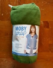 NEW Moby Wrap baby carrier green one size cotton