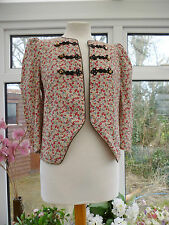 "GORGEOUS ""RIVER ISLAND"" PINK & MULTI-COLOURED FLORAL LIGHTWEIGHT JACKET Sz 10"