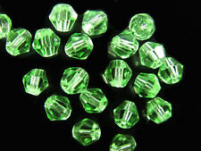 50pcs Lt Green Glass Crystal Faceted Bicone Beads 8mm Spacer Jewelry Findings