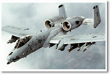 Airforce A-10 Thunderbolt II aka Warthog - Jet Fighter Bomber Aircraft POSTER