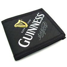 Genuine Guinness Casual Fabric Bifold Wallet Harp logo 05043