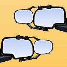 2 CLIP-ON TOWING MIRRORS tow extension extend side rear view hauling extender jp