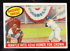 1959 TOPPS #461 MICKEY MANTLE HITS 42nd HOMER FOR CROWN