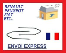 2 clés d'extraction de démontage façade tiroir autoradio renault peugeot fiat