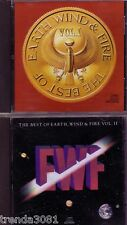 EARTH WIND FIRE Best Vol 1&2 Classic 80s Rock CAN'T HIDE LOVE GETAWAY SEPTEMBER