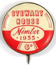 Vintage 1955 Stewart House Member 6d Pin Badge - 22mm