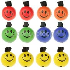 12pc Assorted Smiley Sponge Ball W Elastic String Solid Bouncy Ball Kids Toy