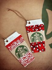 new China Starbucks 2016 X'mas D-Cut Red Cup SVC Gift Card Set of two