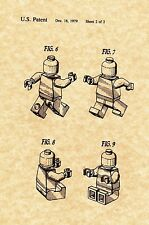 Patent Print - LEGO MiniFigure - 2 Print Set - Ready To Frame! Great Gift Idea!