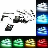 4 in 1 Wireless Remote Control Interior Atmosphere Light Bar Car Floor Dash LED