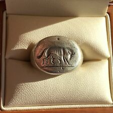 Ancient Roman Silver Ring - Romulus and Remus