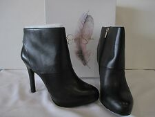 NIB Jessica Simpson Addey Black Soft Nappa Leather Ankle Boots Booties Size 12