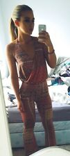 Topshop Scarf Print Flared Jumpsuit Size 6