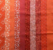 "20-2.5"" Assorted Orange Jelly Roll 100% Cotton Quilting Fabric"