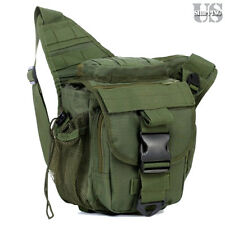 Molle Military Tactical DSLR Camera Shoulder Pouch Waist Pack Travel Bag Green