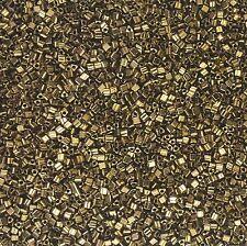 20 grams Antique Bronze Metallic Toho Triangle! Size 11 (2mm)  Beads