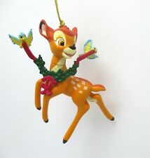 Grolier Christmas Magic Disney Bambi Ornament Deer Birds Decoration Collectible