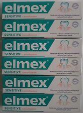 ELMEX SENSITIVE TOOTHPASTE - 6 X 75ML GREEN PACK pasta do zębów зубная пастa