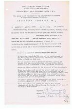 MARION SANDERS Signed Entertainment Contract   New Opera House Blackpool   1951