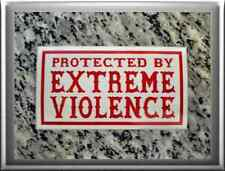 "Hells Angels support 81 Sticker Adhesivo ""protected by exreme violencia"""