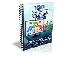 *•¸★☆☆ 100 SEO TIPS Ebook Master Resell Rights + BONUS ☆☆★¸•*
