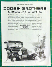 Vintage 1930 ad for Dodge autos - nice graphics of Dodge Brothers Six, only $835