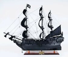 Ship Model - Black Pearl Pirate Ship - Hand Made Wood - Fully Assembled