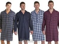 Mens Long Sleeve Cotton Stripe/Check Haigman Nightshirt NEW Size M, L, XL, XXL