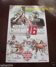 2015 Alabama National Championship Celebration Poster Nick Saban & Derrick Henry