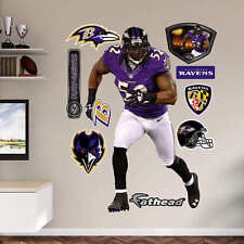 "RAY LEWIS 3'11"" x 6'4"" Ravens Nike Jersey #52 REAL BIG Lifesize FATHEAD + Extras"