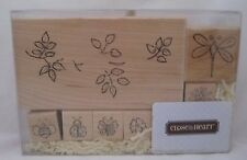 Close to my Heart CTMH Wood Mounted Rubber Stamps Dragonfly & Friends S350