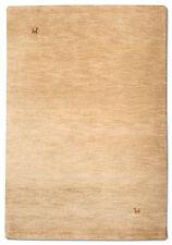 Teppich Modern Gabbeh 183cm x 122cm  Handgeknüpft  Beige  Schurwolle  G2018