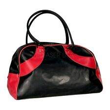 Demonia Large Black and Red Overnight Bag, Travel Bag, Tote Bag