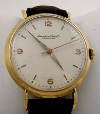 Vintage IWC Schaffhausen Swiss 18k Gold Watch Cal 89 1946 Large Case 36.5mm