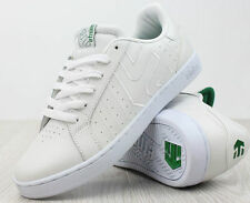 ETNIES FADER LS WHITE TRAINER RETRO WHITE GREEN SKATER SHOES TRAINER SIZE 8.5