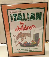 Italian For Children Acitivity Book & Audio Cassette Tapes Passport Books