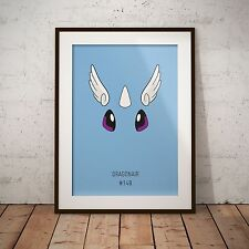 A4 Pokemon Go Dragonair 148 Print Poster Gift Present Japanese Anime Game