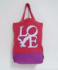 American Eagle Outfitters LOVE Pink Purple Cotton Canvas Tote Bag New NWT