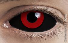 Farbige Crazy & Fun Halloween Kontaktlinsen 22 mm - GREMLIN SCLERA +Behälter !