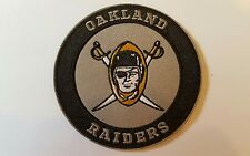 "Oakland Raiders Vintage Iron on Embroidered CLASSIC  Patches Patch lot 3"" x 3"