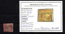 Preußen Michelnummer 20 gestempelt (intern: 346) jetzt mit Befund Brettl