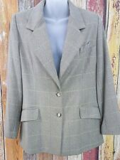 Vintage Burberry Women's Wool Cashmere Blazer Sz 12P Petite Made in USA