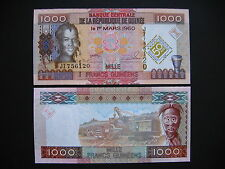 GUINEA  1000 Francs 2010  Commemorative Issue  (P43)  UNC