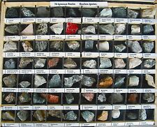 280 Igneous & Sedimentary Rocks and Minerals 3/4 inch 4 Wooden Boxes
