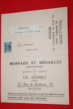 VIEUX PAPIER MONNAIES MEDAILLES DUPRIEZ BRUXELLES TIMBRE 1927 GERMINY