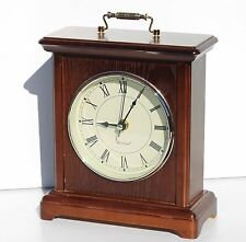 Modern Wooden Mantle Westclox Clock 7x10 Brown Quartz (Battery Powered)