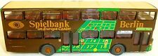 Game bank Berlin 99E advertising Bus MAN SD 200 Detailed from WIKING Bus H0 1: