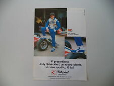 advertising Pubblicità 1979 JODY SCHECKTER e VALSPORT
