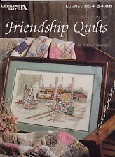 1989 Leisure Arts Paula Vaughan cross stitch pattern FRIENDSHIP QUILTS #854#31